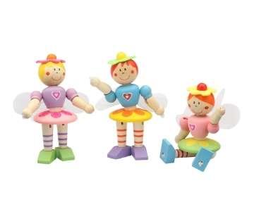 Kids Krafts Attīstoša koka rotaļlieta Fejas