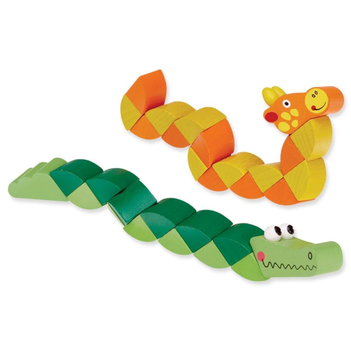 Kids Krafts Attīstoša koka rotaļlieta puzle Dzīvnieki