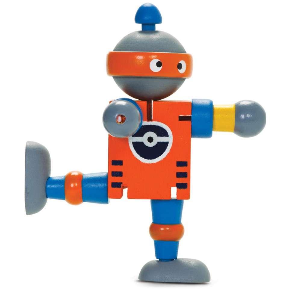 Kids Krafts Attīstoša koka rotaļlieta Robots