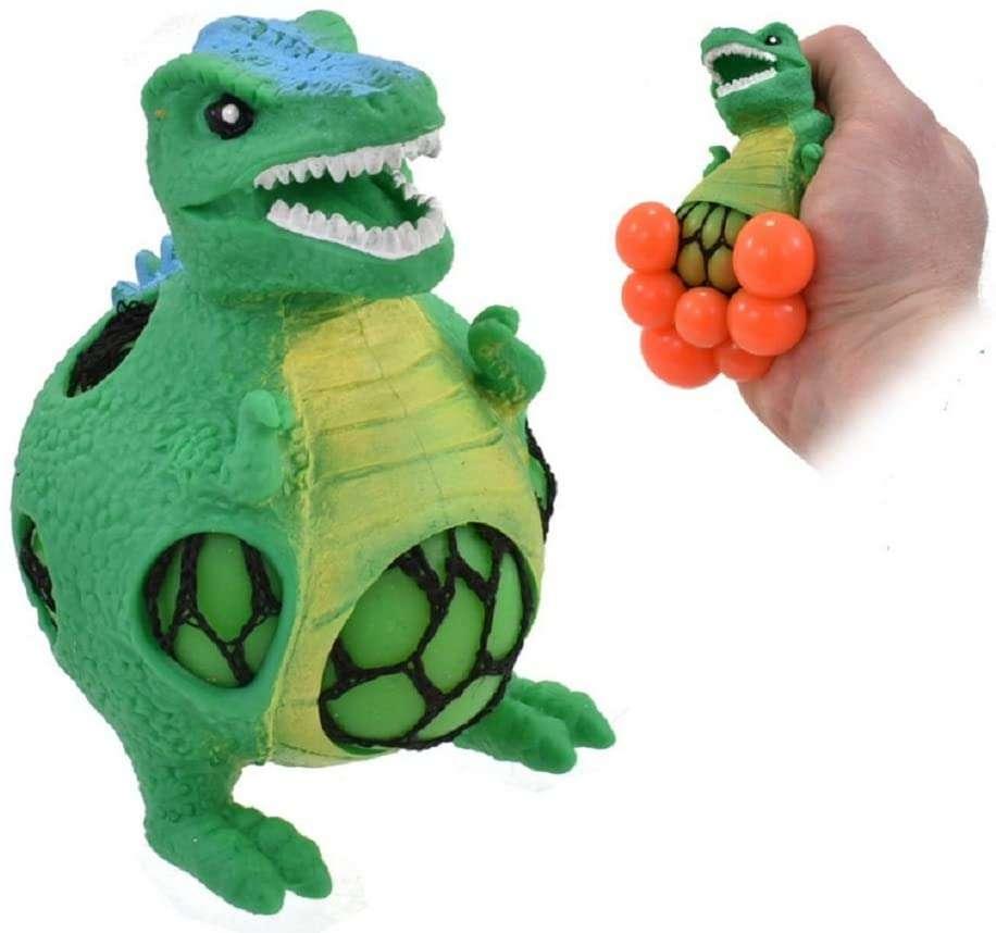 Kids Krafts Squeezy Mesh Dinosaurs Mīkstā Antistresa sietiņā rotaļlieta