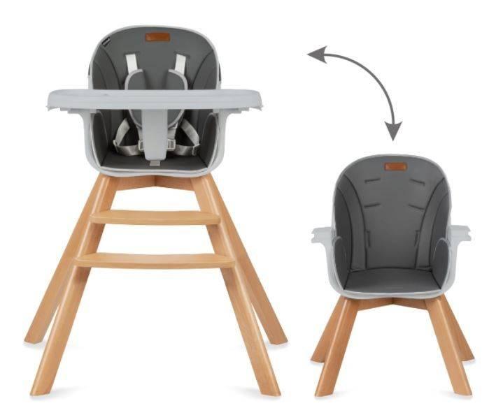 Kidwell Nobis 2in1 Grey Barošanas krēsls
