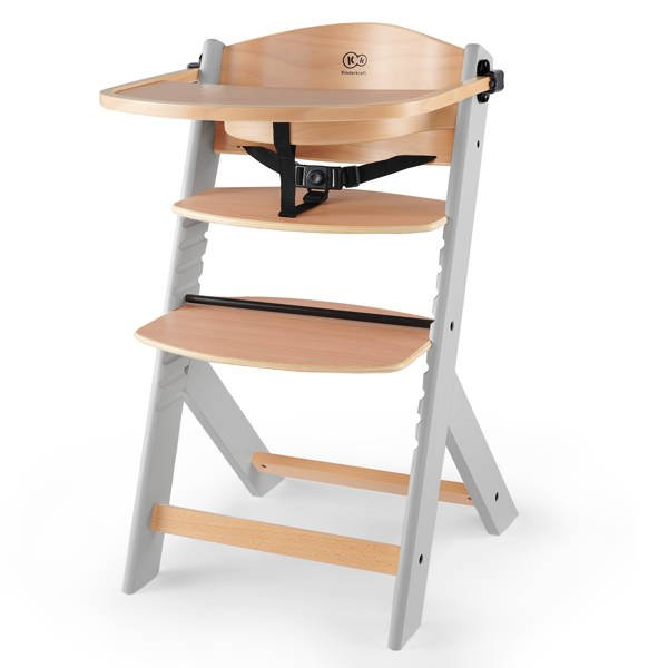 Kinderkraft Enock Wood grey 3in1 Barošanas krēsliņš