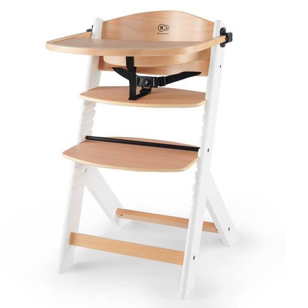 Kinderkraft Enock Wood white 3in1 Barošanas krēsliņš