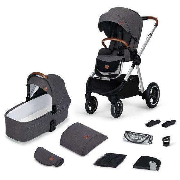 Kinderkraft Everyday Dark Grey Bērnu rati 2in1