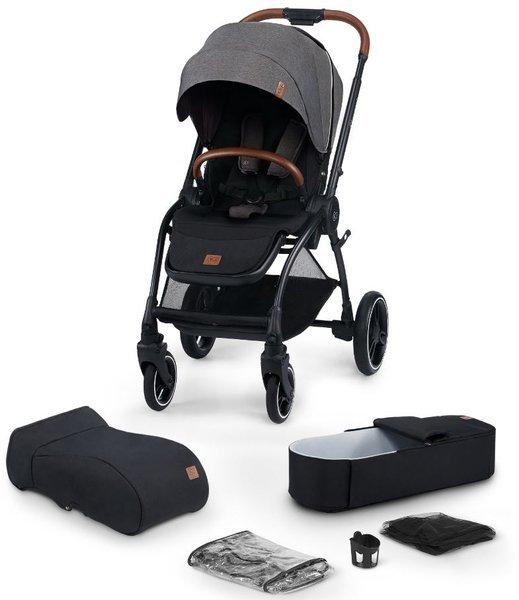 Kinderkraft Evolution + Cocoon Platinum Grey Sporta rati 2in1