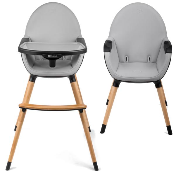 KinderKraft Fini Black 2 in 1 Barošanas krēsls