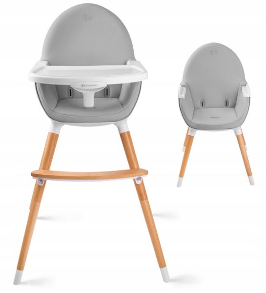 KinderKraft Fini Grey 2 in 1 Barošanas krēsls