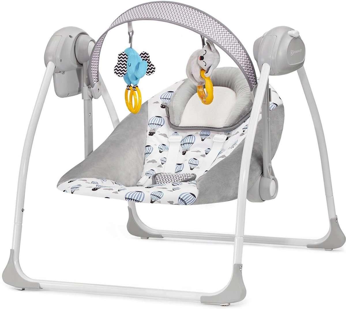 KinderKraft Flo Mint Bērnu muzikālās šūpoles (šūpuļkrēsls)
