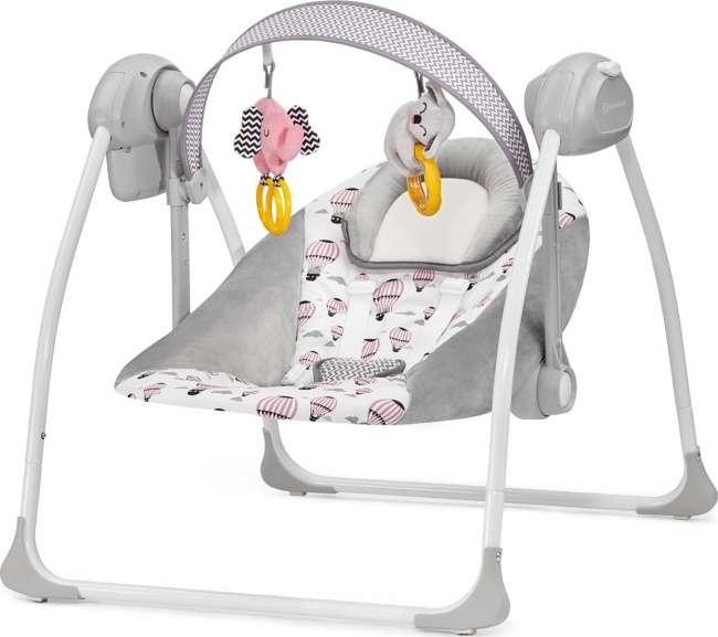 KinderKraft Flo Pink Bērnu mūzikālās šūpoles (šūpuļkrēsls)