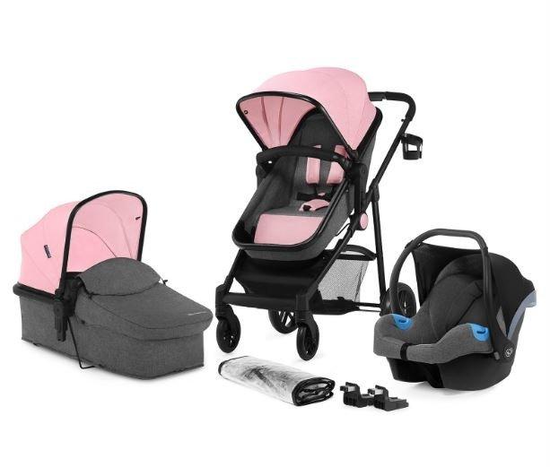 KinderKraft Juli Pink Bērnu rati 3in1