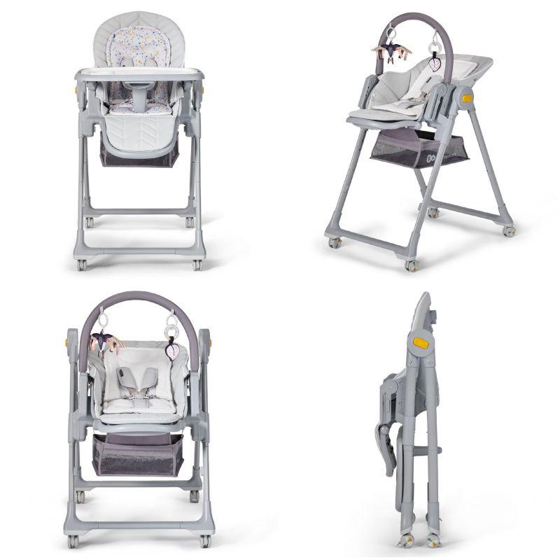 Kinderkraft Lastree 2in1 Grey Daudzfunkcionāls šūpuļkrēsliņš un barošanas krēsliņš