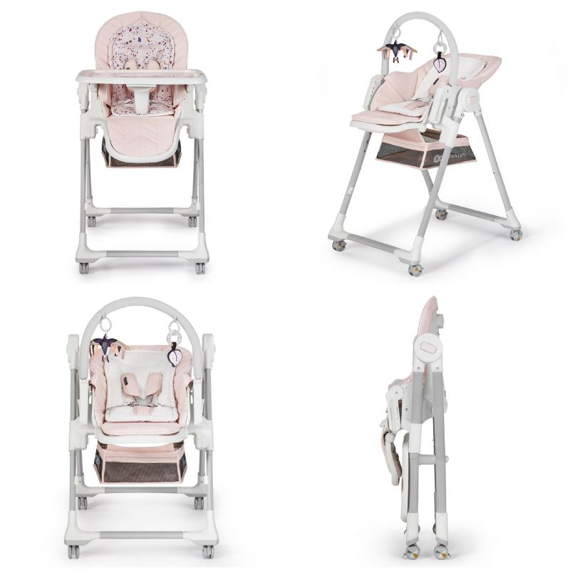 Kinderkraft Lastree 2in1 Pink Daudzfunkcionāls šūpuļkrēsliņš un barošanas krēsliņš