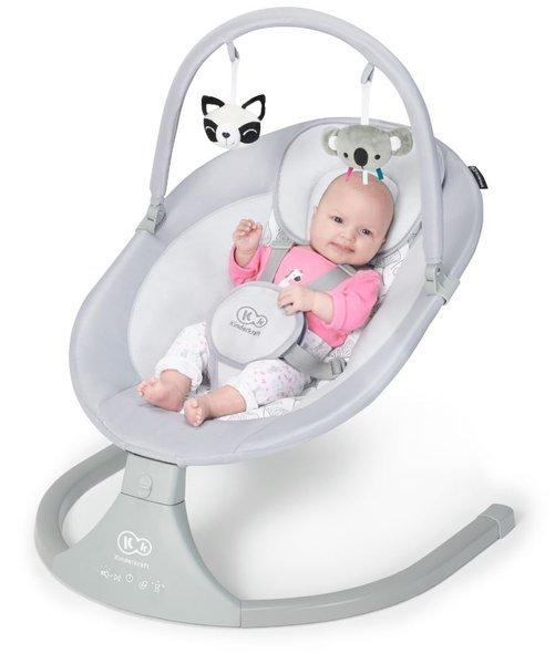 Kinderkraft Luli Grey Šūpuļkrēsls 2in1