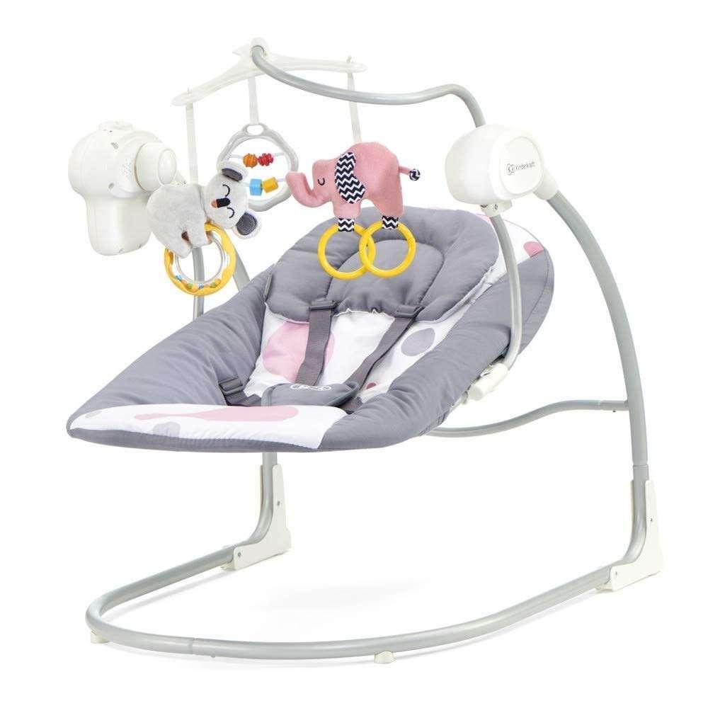 KinderKraft Minky Pink Šūpuļkrēsls