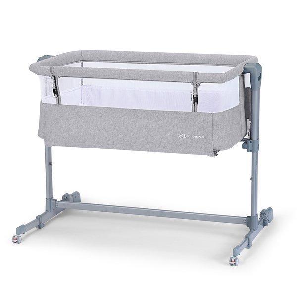 KinderKraft Neste Air Grey Bērnu gultiņa 2in1