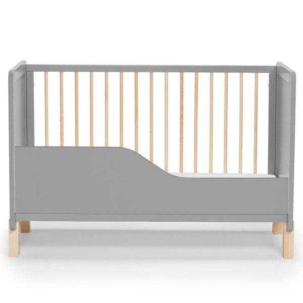Kinderkraft Nico 2in1 Grey Bērnu gulta + Barjera