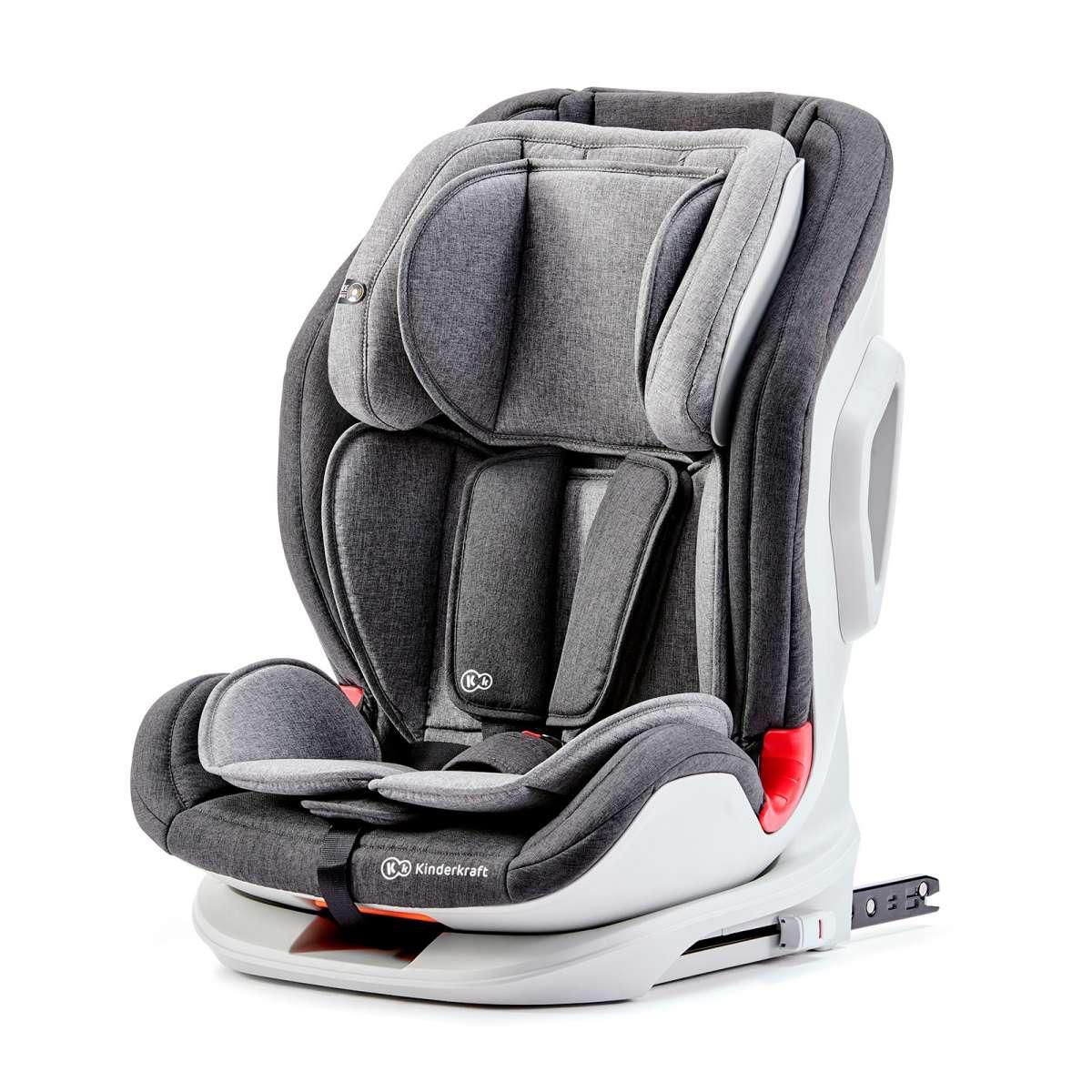 Kinderkraft Oneto 3 Isofix Black/Grey Bērnu autokrēsliņš 9-36 kg