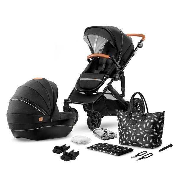 Kinderkraft Prime Black Bērnu rati 2in1