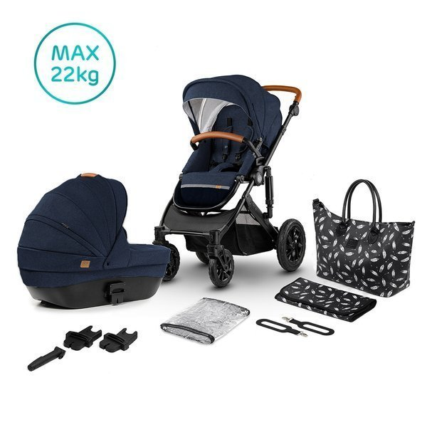 Kinderkraft Prime Deep Navy Bērnu rati 2in1