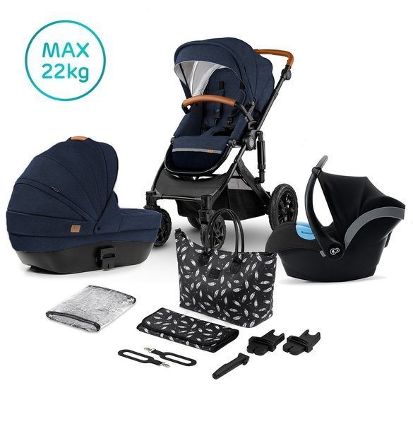 Kinderkraft Prime Deep Navy Bērnu rati 3in1