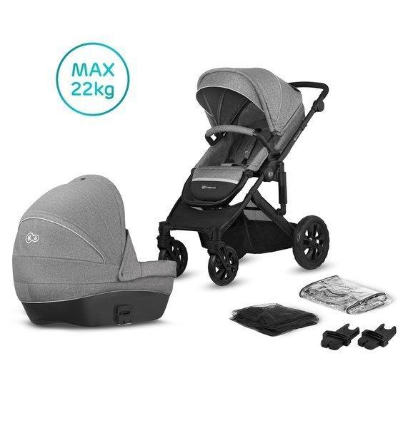 Kinderkraft Prime Lite Grey Bērnu rati 2in1