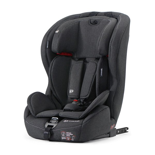Kinderkraft Safety-Fix Black Bērnu autosēdeklis 9-36 kg