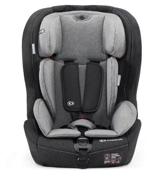 Kinderkraft Safety-Fix Black Grey Bērnu autosēdeklis 9-36 kg