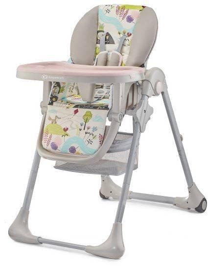 Kinderkraft Tastee Yummy Pink Leaf Barošanas krēsliņš