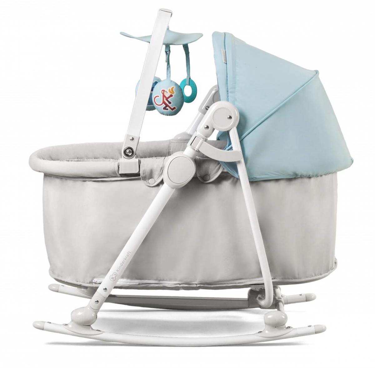 KinderKraft Unimo Light Blue 5 in 1 Bērnu šūpuļkrēsliņš-gultiņa pieci vienā