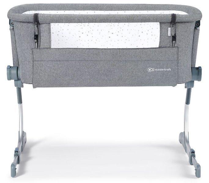 KinderKraft Uno Up Grey Melange Bērnu gultiņa 2in1