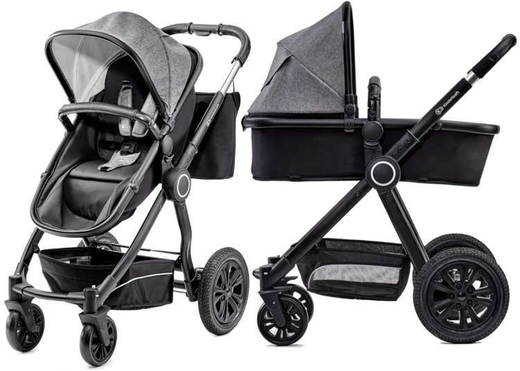 Kinderkraft Veo Black Bērnu rati 2in1