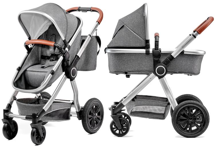 Kinderkraft Veo Grey Bērnu rati 2in1