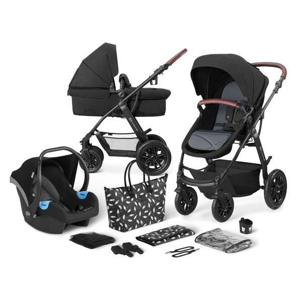 Kinderkraft XMoov Black Bērnu rati 3in1