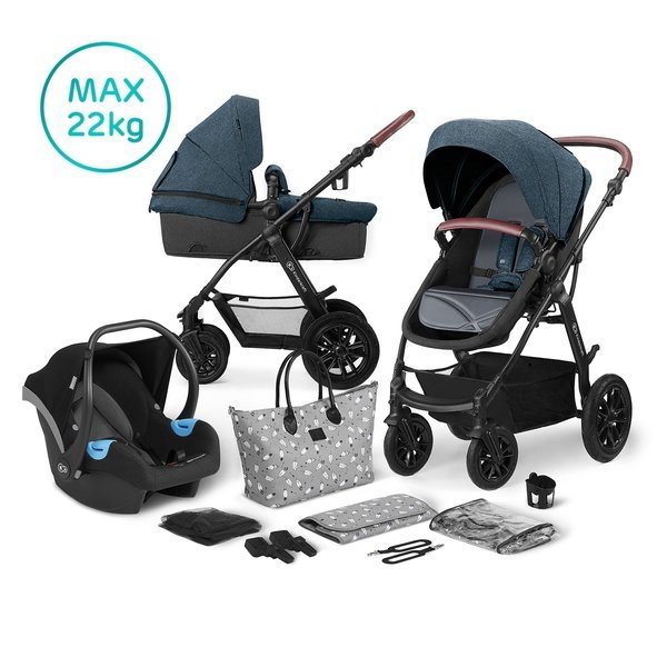 Kinderkraft XMoov Denim Bērnu rati 3in1