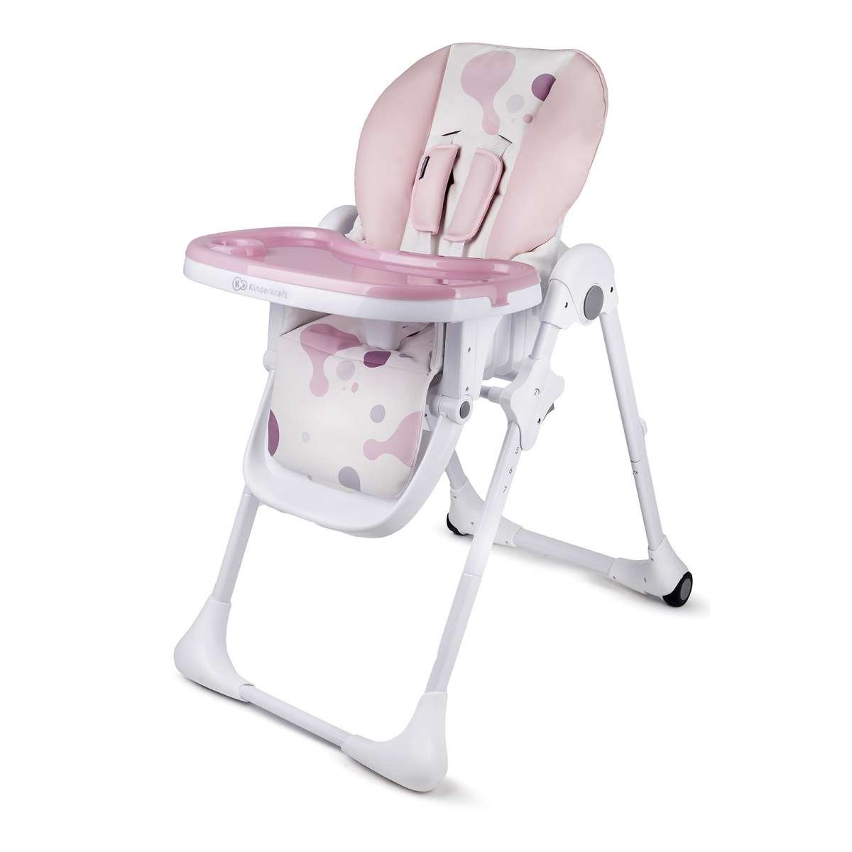 KinderKraft Yummy Pink Barošanas krēsls