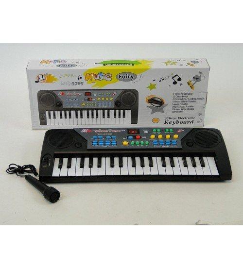 Klavieres elektroniskās 37 mini taustiņi ar mikrofonu 148550