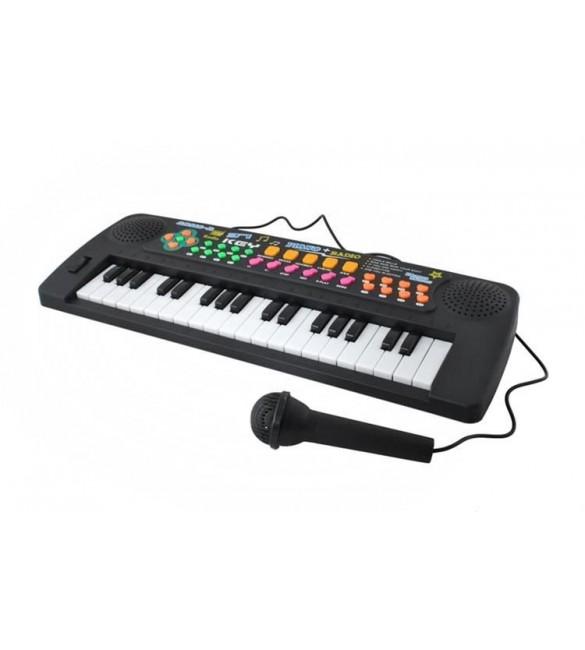 Klavieres elektroniskās 37 mini taustiņi ar mikrofonu K6722