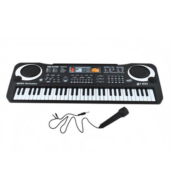 Klavieres elektroniskās ar mikrofonu 61 taustiņi 4687