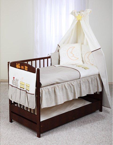 Klups Baby Kolejka Bērnu gultas veļas komplekts no 3 daļām