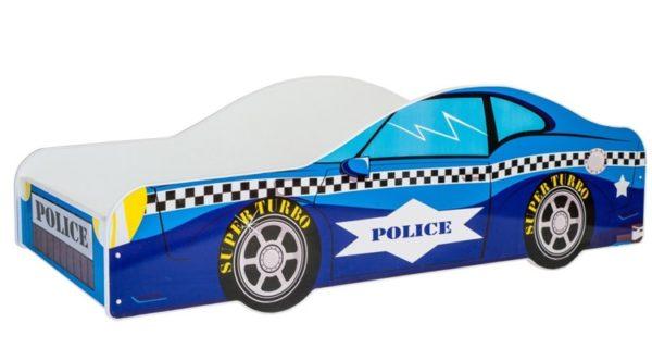 KOBI Car blue 140x70 cm Pusaudžu gulta