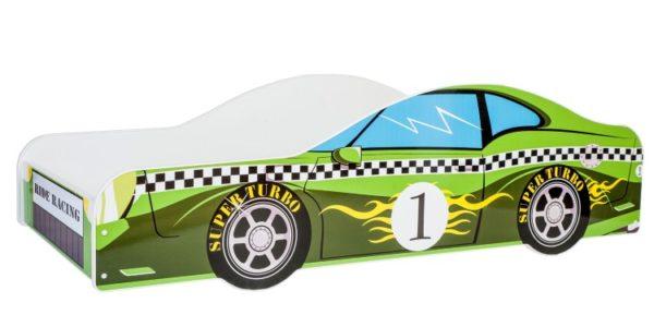 KOBI Car green 140x70 cm Pusaudžu gulta