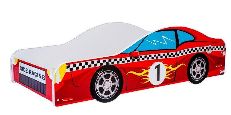 KOBI Car red 140x70 cm Pusaudžu gulta