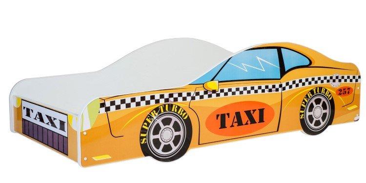 KOBI Car yellow 140x70 cm Pusaudžu gulta