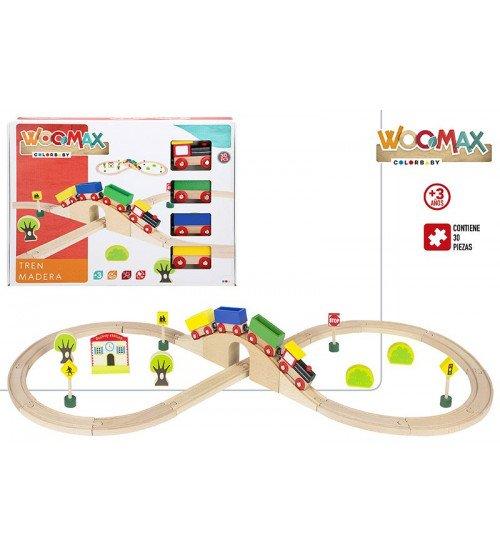 Koka dzelzceļa komplekts WOOMAX CB43629