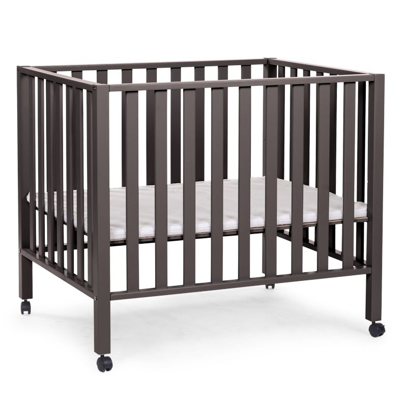 Koka manēža 75x95 сm CHILDHOME Playpen Beech warm grey 94 + wheels