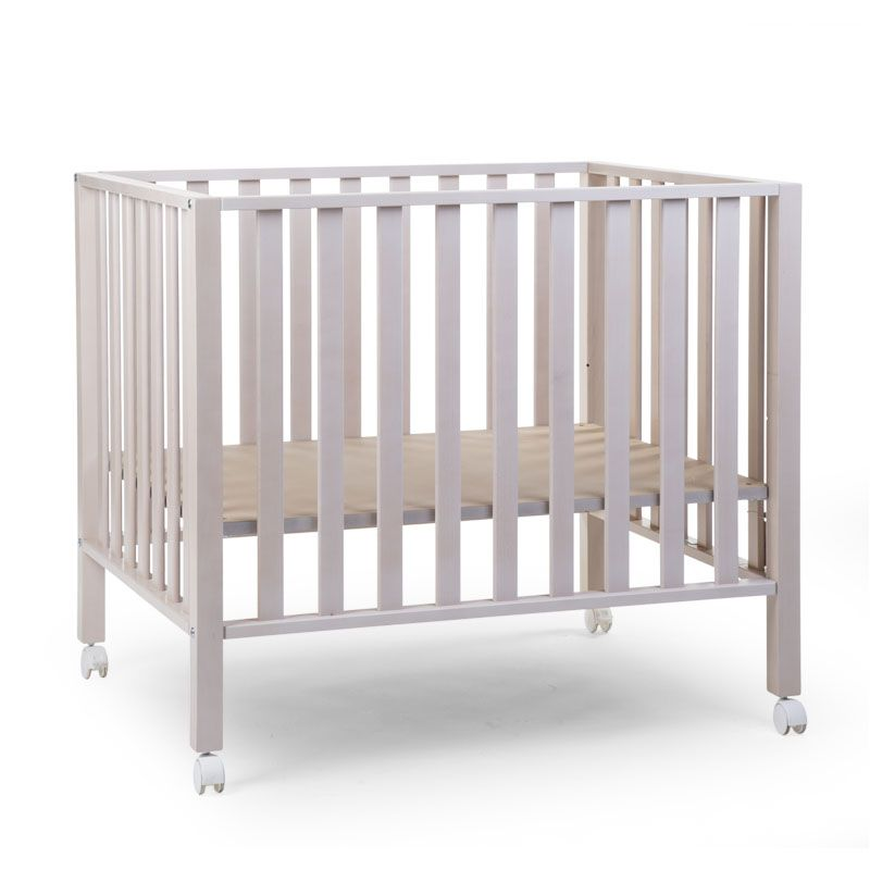 Koka manēža 75x95 сm CHILDHOME Playpen Beech white washed 94 + wheels