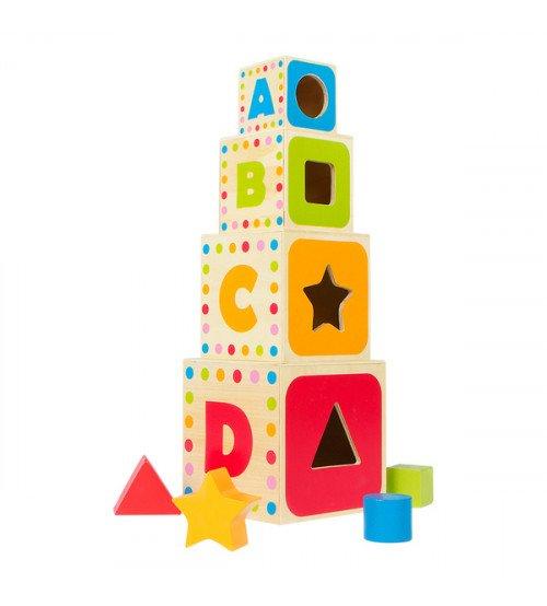 Koka piramīda ar figūrām 37 cm CB43625
