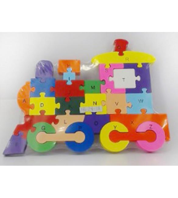 Koka puzle LOKOMOTĪVE 26x19x2 cm CK005498