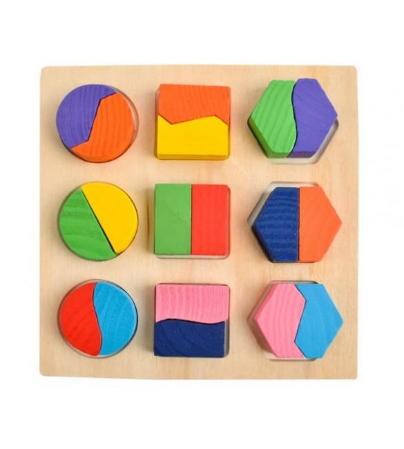 Koka puzle-prāta spēle GEOMETRY 6827