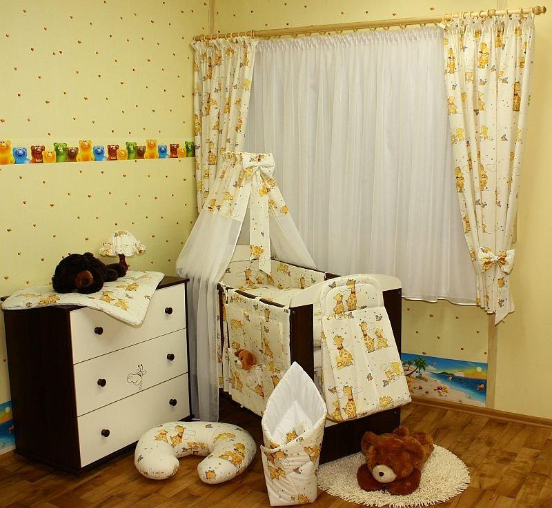 Kokvilnas gultas veļas komplekts Žirafe ar lācīti No 4 daļām